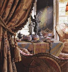 Chintz of Darkness: The (Not So) Great Outdoors (A lovely & luscious interior by Magnolia Pearl.)