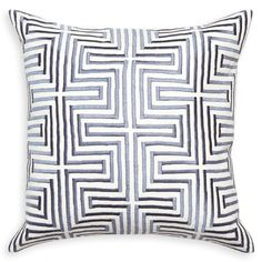 Stylish Stitching. Moody glamour comes alive in our Stella Pillow Collection. Embroidered lines of silken thread on chunky linen in neutral greys and ivory. Mix the rigorous geometry of the linear Stella Pillows with the organic intrigue of our Malachite pillows for a luxurious but eclectic vibe. For extra credit, pair with our sequined brass Talitha pillows and watch the magic unfold. #jonathanadler #interiordesign