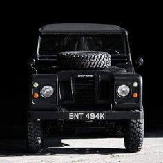 Land Rover in basic black. Land Rover Defender, Defender 90, Automobile, Mustang, Land Rover Series 3, Best 4x4, Range Rover Classic, Off Road, Lifted Ford Trucks