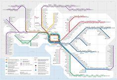 Official Map: Melbourne/Victoria (Australia) Train Network, 2017