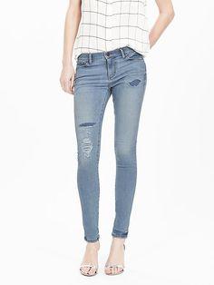 Light Wash Skinny Ankle Jean