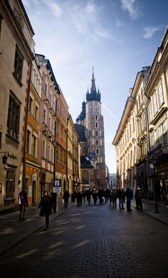 Krakow, Poland. I think this was the street we walked through to get back to our hotel from the city sqaure...