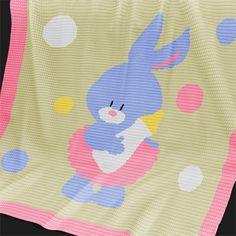 CROCHET Pattern - Baby Blanket Pattern - Bunny Girl - Crochet Graph - Bunny Crochet Pattern - Afghan Crochet Pattern - Bunny Crochet Chart