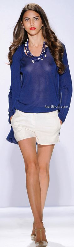 Gattinoni Spring Summer 2011 Ready to Wear - Royal Blue & White