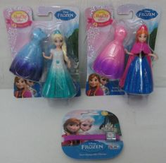 Disney Frozen ELSA and ANNA Magic clip MagiClip Dolls BONUS CHARM BRACELET