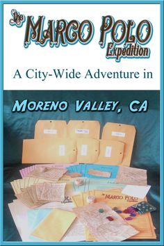 The Marco Polo Expedition – City-Wide Hunt Adventure is a city-wide scavenger hunt contained all within the city limits of Moreno Valley, CA. Once you complete a mini-mission, you'll be able to open one of the six Marco Polo Expedition story envelopes - an elaborate, puzzle filled Choose Your Own Path adventure based on the ancient travels of Marco Polo - leading you to find some of his jeweled treasure. It's a full puzzle adventure contained INSIDE of a city-wide scavenger hunt. University Of California Davis, Eastern Michigan University, State University, Kentucky University, Washington University, Lamar University, Eastern Illinois, Concordia University, Washington State