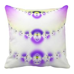 Blue, Purple, Yellow American MoJo Pillow