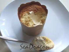 Hokkaido chiffon cake (emulsifier version) Light Cakes, Chiffon Cake, Brown Paper, Muffin Recipes, Salmon, Muffins, Cupcakes, Pudding, Sweet