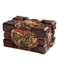 Look what I found on #zulily! Steampunk Pressure Gauge Decorative Box #zulilyfinds