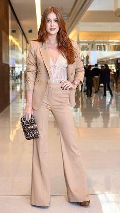 Marina Ruy Barbosa (Foto: Manuela Scarpa/Brazil News) Work Fashion, Star Fashion, Retro Fashion, Womens Fashion, Fashion Trends, Casual Street Style, Casual Chic, Hot Outfits, Casual Looks
