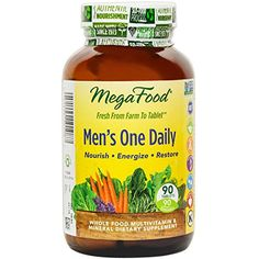 #MegaFood Men's One Daily is specifically formulated to support a man's health and vitality. Made from scratch with fresh, local foods, FoodState Nutrients nouri...