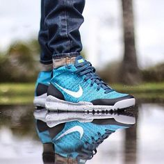 new styles fd6ef cecb6 Nike Flyknit Trainer Chukka SFB  Squadron Blue Neo Turquoise Nike Flyknit  Trainer, Air