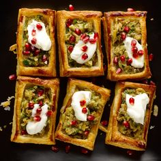 Smoked aubergine & yogurt vol-au-vents I Online store I These tangy treats are perfect when you need to hold out for the big meal. If you can, serve them as soon as you make them, to get the most out of the contrasting temperatures of the yogurt and the a