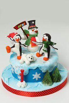 Torturi - Viorica's cakes: Tort cu pinguini pentru Rares