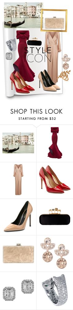 """Venice Film Festival 2016 :Style Report"" by andreamartin24601 ❤ liked on Polyvore featuring Dot & Bo, Carolina Herrera, Alexander McQueen, Salvatore Ferragamo, Yves Saint Laurent, Edie Parker, Givenchy, Effy Jewelry and Allurez"