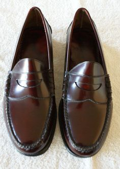 Johnston & Murphy Penny Loafers 10 1/2 D Deep Brown MINTY #JohnstonMurphy #LoafersSlipOns