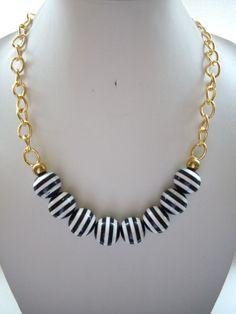 Black and White Bleeding Striped Vintage by DesignsbyPattiLynn, $55.00