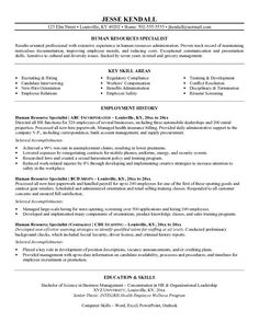 Resume Generalist Samples Human Resources Throughout  Home Design