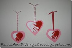 Handprint art for Valentine's Day Kinder Valentines, Valentine Crafts For Kids, Valentines Day Activities, Homemade Valentines, Valentines For Kids, Valentine Hearts, Valentine Gifts, Kids Crafts, Daycare Crafts