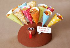 Paper cone snack holders