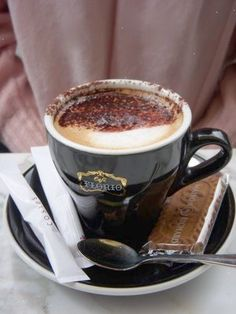 Take me to a European cafe (or better Europe!) for one if these!  Sigh....:) I Love Coffee, Coffee Break, Morning Coffee, Black Coffee, Hot Coffee, Nitro Coffee, Morning Drinks, Coffee Girl, Coffee Scrub
