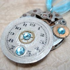 Steampunk+Necklace++++Repurposed+Watch+Dial+by+ASecondTime+on+Etsy