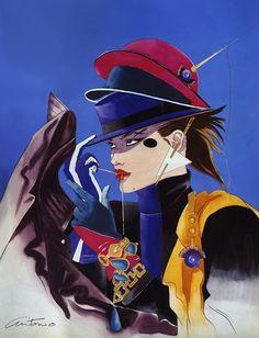 Fashion illustration by Antonio Lopez, Oct. 1972, 'Fur for Glamour ...