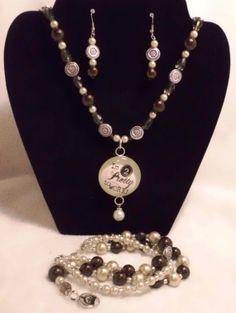 Too pretty to work jewelry set. by MysticalGypsies on Etsy, $25.00