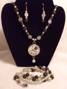 Too pretty to work jewelry set. by MysticalGypsies on Etsy, $25.00