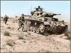 A Panzer 3 Ausf G with the 21st Panzer Division in North Africa during 1942