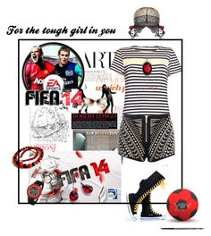 """For the tough girl in you"" by lataarv ❤ liked on Polyvore"