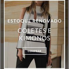 Estoque Renovado Coletes e Kimonos #achadinhos  Encontrei Aqui... Vem Ver! http://imaginariodamulher.com.br/look/?go=2oVOIyt #modafeminina #modafashion #tendencia #modaonline #moda #instamoda #lookfashion #blogdemoda #imaginariodamulher
