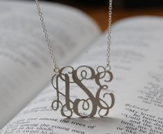 Monogram necklace from Etsy - love it!