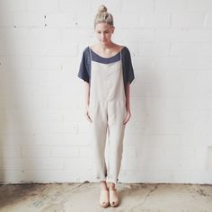 cute jumpsuit/blouse combo from Hackwith Design House