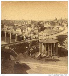 Italy ~ ROME ~ Tiber & Its Island Stereoview Uuit1 Old Photos, Rome, Italy, Island, Places, Painting, Antique, Old Pictures, Italia