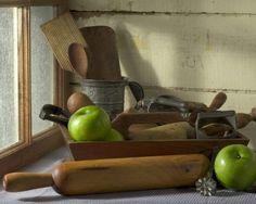 Rustic kitchen tools