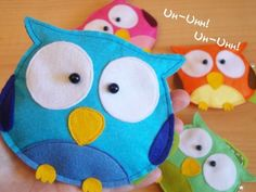 I just love Owls...how cute would this be for a coin purse?!?