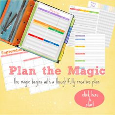 Design your very own lesson plan book that works for you.  Oh and it is FREE