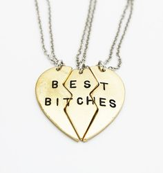 The perfect necklace for you and your best bitches! A trendy twist to the classic best friends forever necklace. A piece all best friends truly