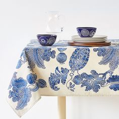 Image 1 of the product CONTRASTING VEGETATION PRINT TABLECLOTH