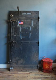 Interior design, decoration, furniture, 1920's Steel Fire Door