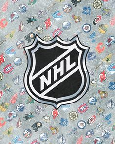 NHL Teams + Logo Wallpaper... Not sure why, but I always seem to fall for these types of graphics - so long as they involve hockey of course!