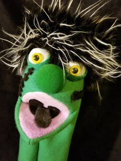 Your place to buy and sell all things handmade Types Of Puppets, The Frankenstein, Hand Puppets, Paisley, Hands, Christmas Ornaments, Knitting, Holiday Decor, Green