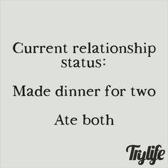 "Single Life on Instagram: ""Single humor #morefoodforme #foodlover #fellowsingle  thanks for sharing @_simplyyarnise"""