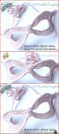 Crochet Super Mom, Super Hero Mask Free Pattern - Masquerade Beauty Crochet Eye Mask Free Patterns
