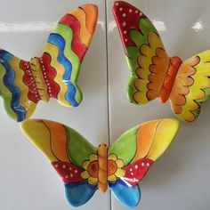 Ribbon Embroidery Tutorial, Silk Ribbon Embroidery, Diy Clay, Clay Crafts, Polymer Clay Recipe, Raku Pottery, Painted Plates, Bohemian Art, Flower Bird