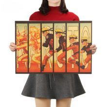"Universe of goods - Buy ""TIE LER Naruto Vintage Kraft Paper Classic Nostalgia Anime Poster Home Decor Wall Sticker for only USD. Wall Stickers Roll, Cheap Wall Stickers, Sarada Uchiha, Sasuke, Naruto Shippuden, Striped Wallpaper Modern, Naruto Shop, Naruto Merchandise, Anime Store"
