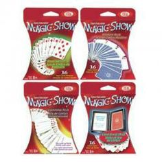 Amaze your friends with this Magic Cards Set by Ideal! Four different sets are included : Magician's Deck, Mystery Deck, Vanishing Deck., and Card Box Learning Through Play, Kids Learning, Mystery, Deck, Magic Show, Magic Cards, Program Design, The Magicians, Cool Kids