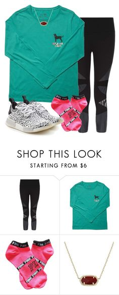 """""""i'm changing schools ."""" by itsallison-m ❤ liked on Polyvore featuring Sweaty Betty, Victoria's Secret PINK, Kendra Scott and adidas Originals"""