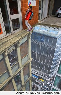 3D Street Art, perspective, chalk art